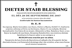 Dieter Staib Blessing